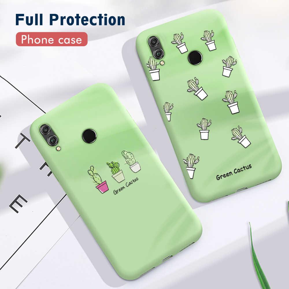 Śliczny pokrowiec z kaktusem do Huawei P30 P20 Pro Mate 20 Lite Nova 5 Pro miękkie etui tpu do Huawei Honor 8X 10i 20i 20 Pro 10 9 Lite etui