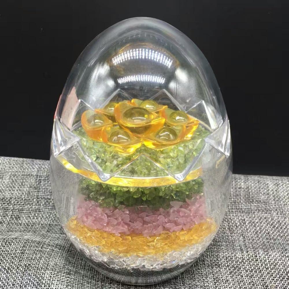 Wholesale Natural 5 Color Of Gravel Stone Egg Five Elements Rock Mineral Specimen Planting Aquarium Fish Tank Decor Stone Crafts