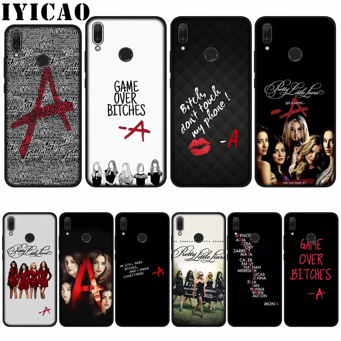 IYICAO Pretty Little Liars tv Soft Case for Huawei P20 Pro P10 P8 P9 P30 Lite Mini 2017 P Smart 2019 Cover
