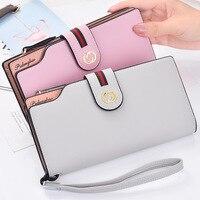 Women Wallets Genuine Leather Wallet Female Purse Long Coin Purses Holders Ladies Wallet Hasp Fashion Womens