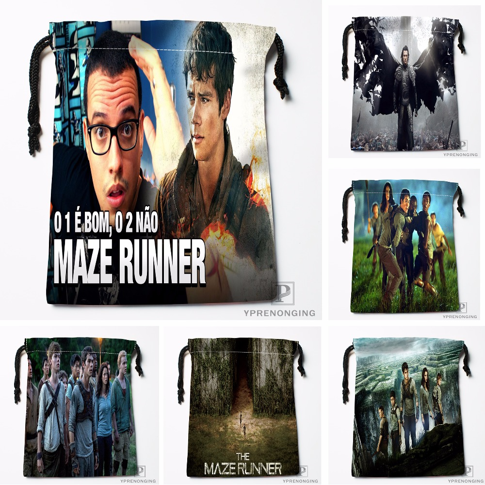 Custom The Maze Runner Drawstring Bags Travel Storage Mini Pouch Swim Hiking Toy Bag Size 18x22cm#0412-03-40