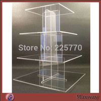 High-quality Stable 4 tiers Acrylic Cupcake Display Stand