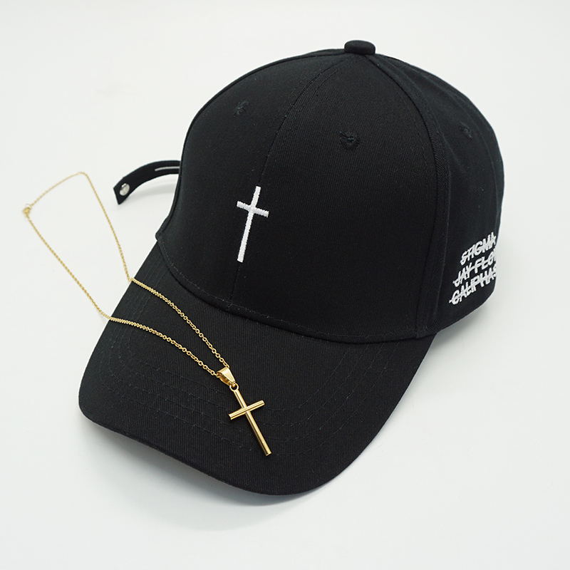 Gorras Snapback Cross-Baseball-Cap Couple Embroidery Hip-Hop-Caps Bone-Casquette Dad-Hat