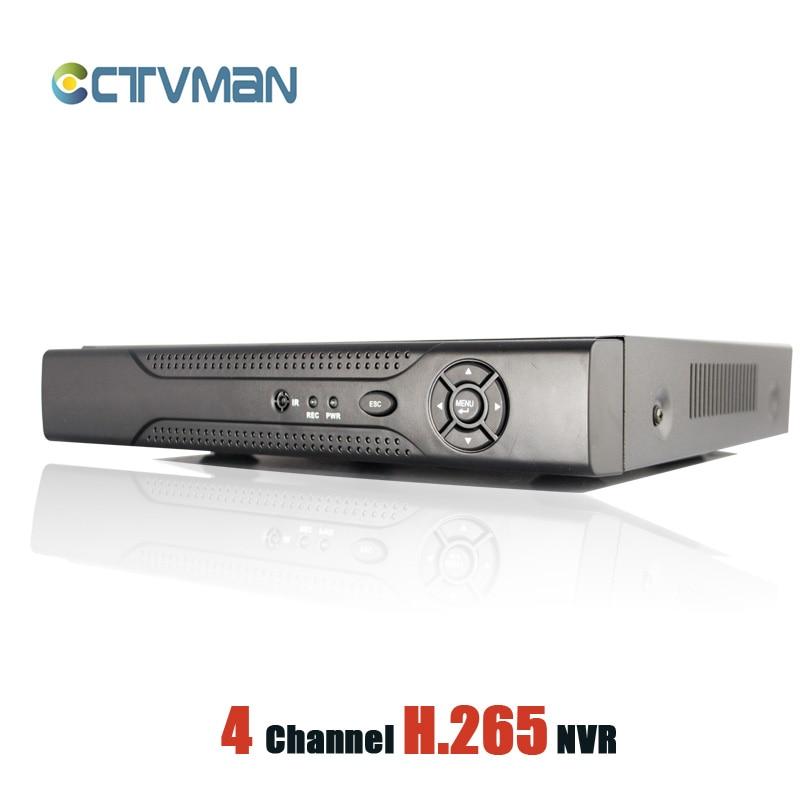 CCTVMAN H.265 CCTV NVR 4 Channel For 5mp/3mp/2mp 1080P IP Camera Super HD Network Recorder HDMI P2P Cloud Network Video IP NVR hd h 265 hevc avc 1u 4 channels hdmi dvb t encoder modulator for ip stream to vlc media server xtream codes