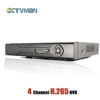 CCTVMAN H 265 CCTV NVR 4 Channel For 5mp 3mp 2mp 1080P IP Camera Super HD