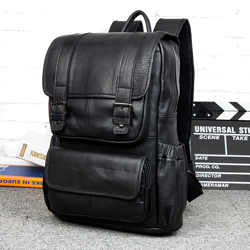 fashion genuine leather black backpacks men  cowhide knapsack vintage shoulder bags rucksack harajuku bag bookbag Student bagfashion genuine leather black backpacks men  cowhide knapsack vintage shoulder bags rucksack harajuku bag bookbag Student bag
