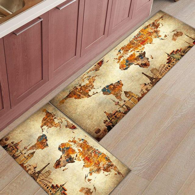 Kitchen Rugs Mats Non Slip Rubber Backing Floor Carpet Accent Area