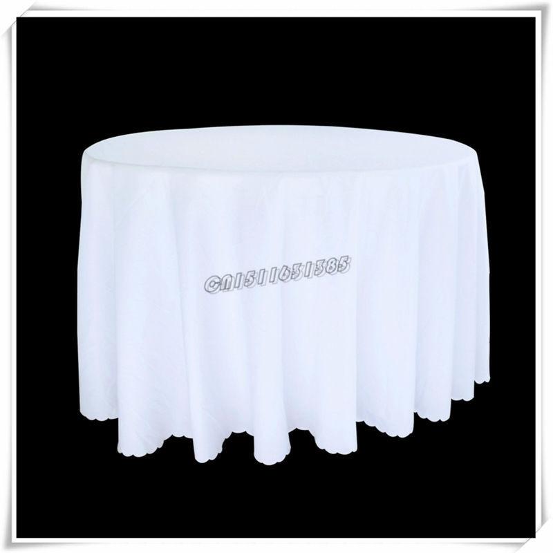 gros 5 pcs 90 blanc noir le banquet de mariage htel htel mnages solide tissu - Nappe Ronde Mariage
