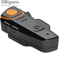 Dbigness 1000 메터 오토바이 A2DP 블루투스 오토바이 인터콤 방수 인터폰 헬멧 헤드셋 MP3 FM 라디오 마이크