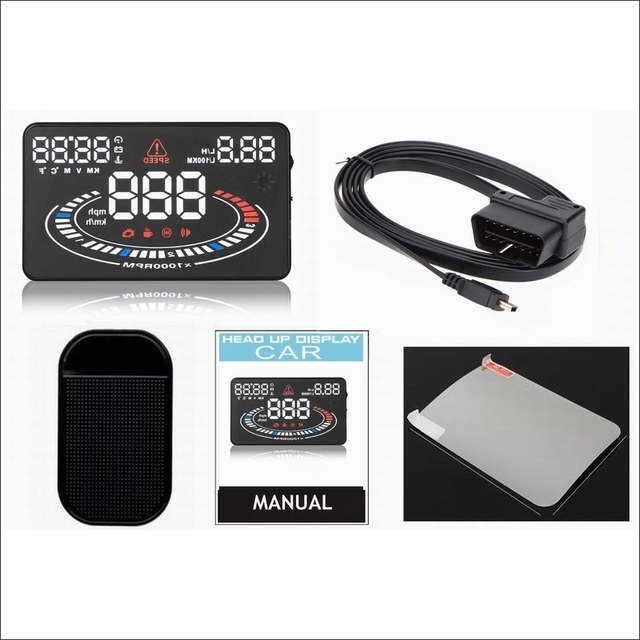 Car HUD Head Up Display FOR Ford Fusion 2002~2012- Safe Driving Screen Projector Refkecting Windshield