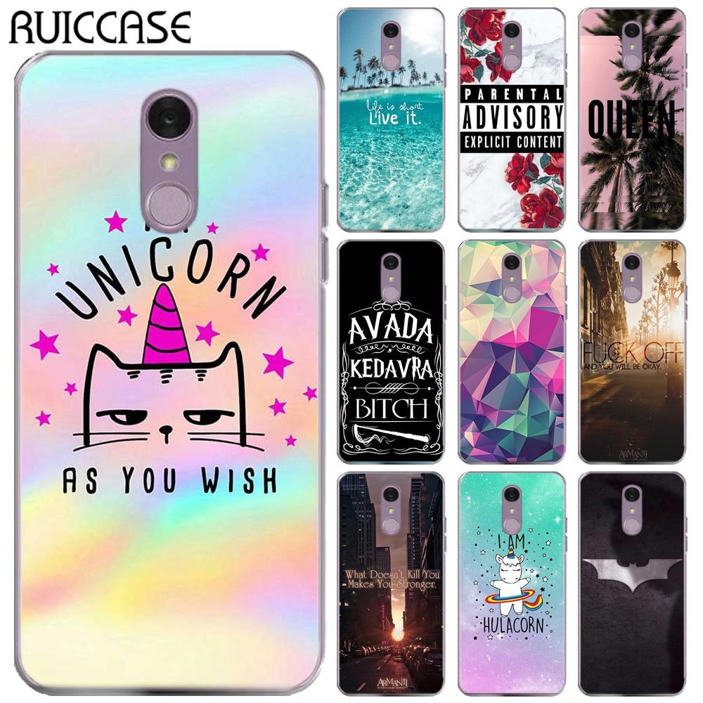 RUICCASE Unicorn Batman Soft TPU Case For Coque For LG Q7 Q 7 LGQ7 QUEEN Floral