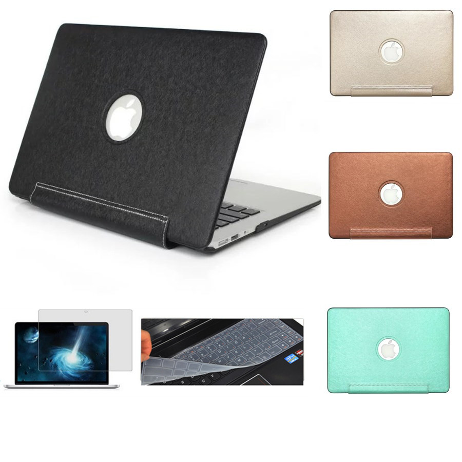High-end Business PU Case Cover for Macbook Pro 13.3 15.4 Pro Retina 12 13 15 inch For Macbook Air 11 13 Laptop Shell