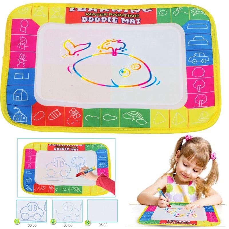 Новые 20*12 см Детские Малыш Вода Мат Рисунок с волшебная ручка Doodle картина игры игрушка доска