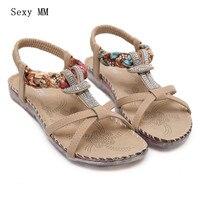 Summer Style Slides Women Flat Sandals Woman Shoes Flip Flops Slippers Ladies Sandals Plus Size 35