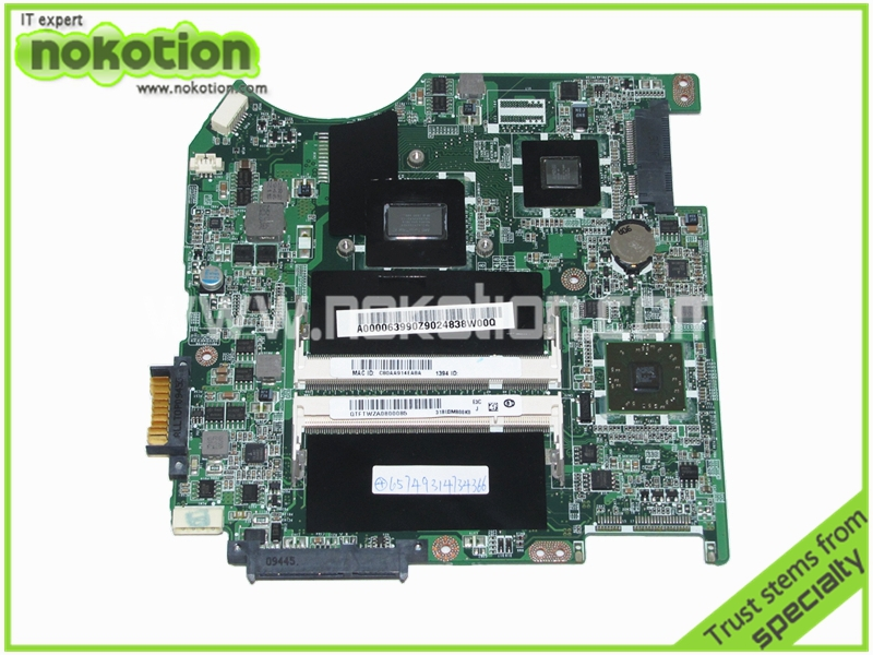 NOKOTION A000063990 DABU3AMB8E0 Laptop Motherboard for Toshiba Satellite T135D Series REV E Mainboard full tested nokotion mainboard a000073390 da0te2mb6g0 rev g for toshiba satellite l640 l645 laptop motherboard intel hm55 hd graphics