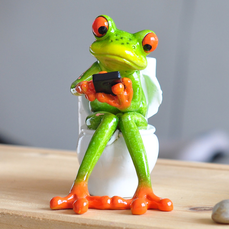 aliexpress : buy resin frog figurines 2017 new creative 3d