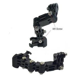 Image 5 - حامل كاميرا مجموعة إطالة دراجة نارية خفيفة الوزن خوذة الذقن جبل قابل للتعديل سهلة التركيب المحمولة متعددة زاوية ل GoPro