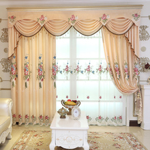 Modern Chenille Embroidered Curtain Fabric Living Room Bedroom Shade Embroidery Handmade Semi-Finished Products