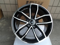 18 BLACK MACHIEN FACE WHEELS RIMS FITS BENZ E430 E420 E200 SL350 SL600 W603
