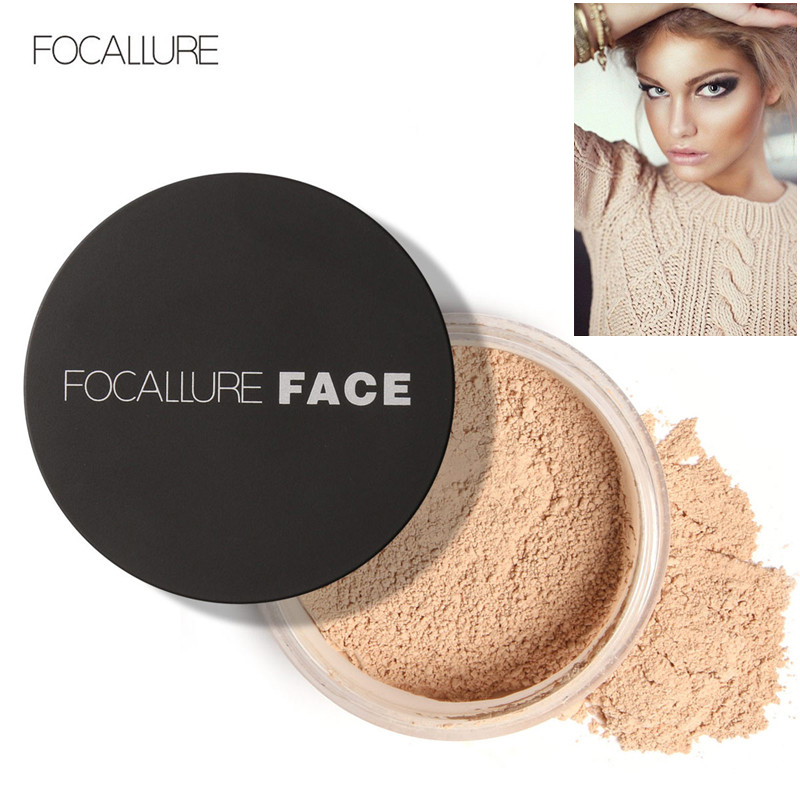 Focallure Face Makeup Pulver 3 Färger Base Matt Skin Finish - Smink