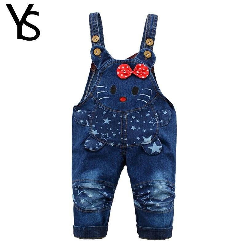 9M 24M Baby Girl Clothes Bebe Boy Overalls Hello Kitty Long font b Pants b font