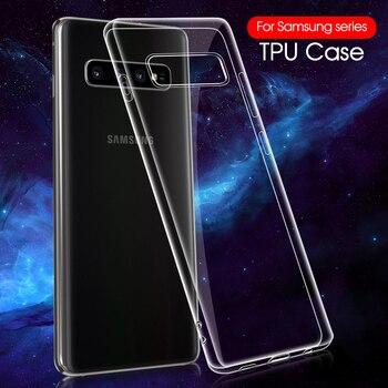 Przezroczysty silikon etui do Samsung A30S A50S S10 plus S10e uwaga 9 przezroczyste etui z tpu dla Samsung A30 A50 M20 A8 A71 A51 pokrywa