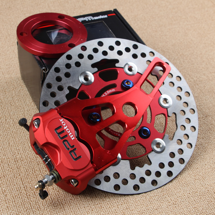 KEOGHS Motorcycle Rear Hydraulic Disc Brake Set Diy Modify Cnc Rpm Brake Pumb For Yamaha Scooter Dirt Bike Motorcross Motorbike keoghs motorcycle hydraulic brake system 4 piston 100mm hf2 brake caliper 260mm brake disc for yamaha scooter cygnus x modify