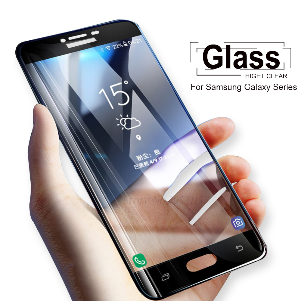 Samung A6 2018 Case Sansung A530 A600 A605 Protective Glass For Samsung Galaxy A5 A3 A7 2016 2017 J6 A6 A8 Plus 2018 Film Cover