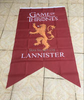 Game Of Thrones Winter Comes Lannister Flag 3X5FT Cm With 3 Eyelets Digital Print Banner