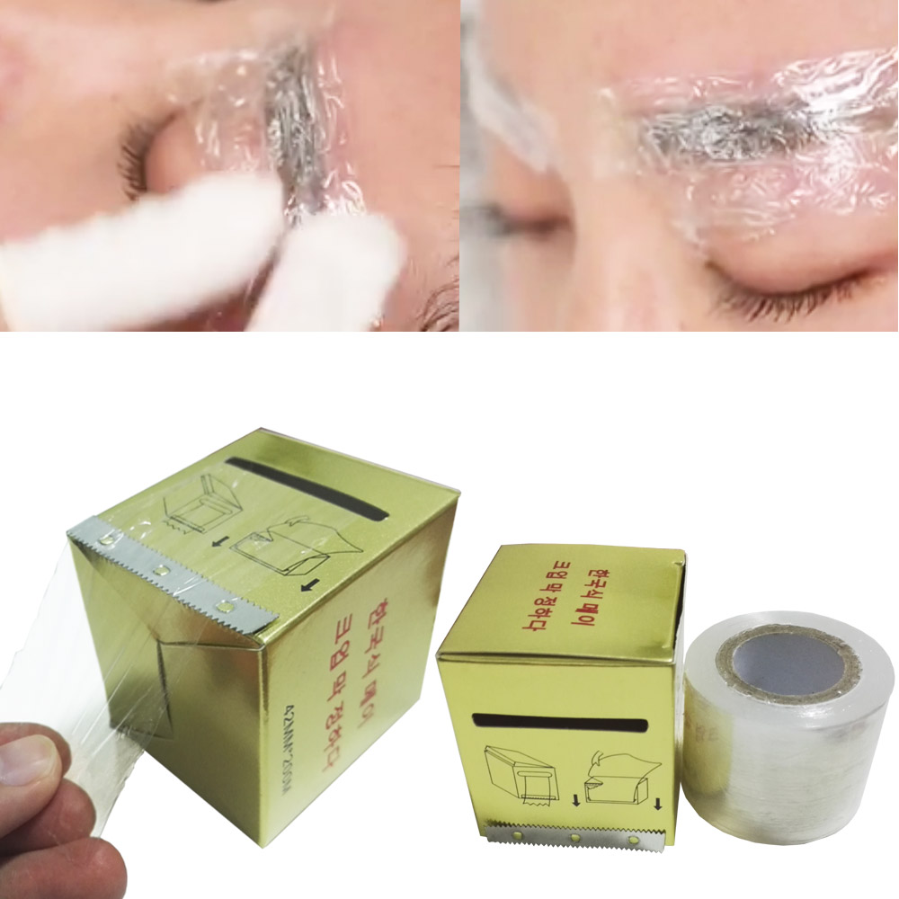 Microblading 1 Box 42mm * 200m Plast Wrap Preservative Film for permanent Makeup Tattoo Eyebrow Liner Tattoo Tilbehør
