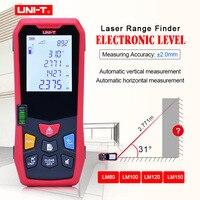 UNI T laser distance meter 80M 100M 120M 150M rangefinder trena laser tape range finder build electronic level ruler test tools