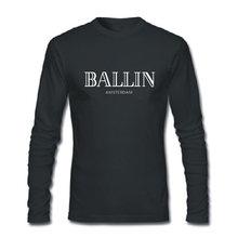 Новинка 2017 года лето мужская одежда с круглым вырезом Ballin Амстердам Графический Футболка унисекс принт Мужская футболка с длинными рукавами хлопковая классная футболка