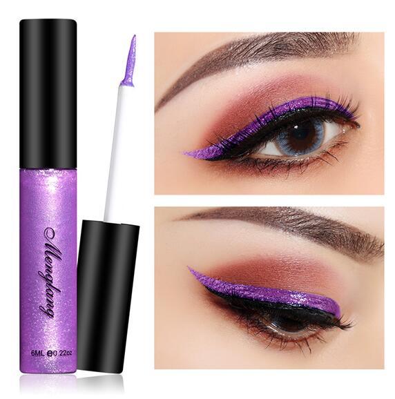 Glitter Metal  Eye Liner Cosmetics Metallic Eyeliner Liquid Waterproof Lasting Shiny EyeLiner Makeup
