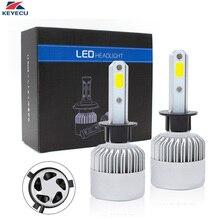 Keyecu Pack 2 светодиодный автомобильные лампы с передовой светодиодный УДАРА фишек и все-в-одном conversion kit S2/8000LM/6500 К