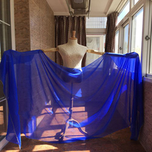 high quality Blue color 100% Silk bellydancing Veils for Dancers 2.5meter size free-shipping