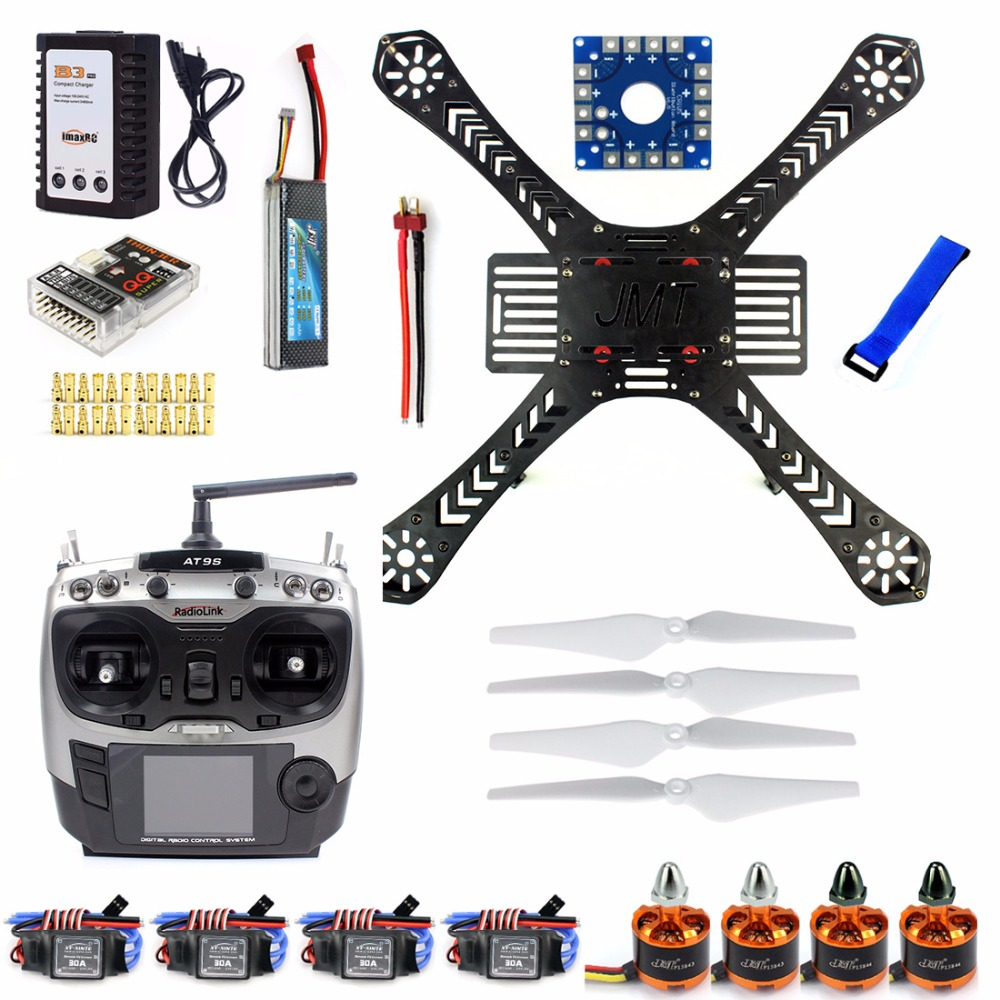 DIY RC Drone Quadrocopter Full Set X4M380L Frame Kit QQ Super AT9S Transmitter RX Brushless Motor ESC F14893-J diy fpv mini drone qav210 zmr210 race quadcopter full carbon frame kit naze32 emax 2204ii kv2300 motor bl12a esc run with 4s