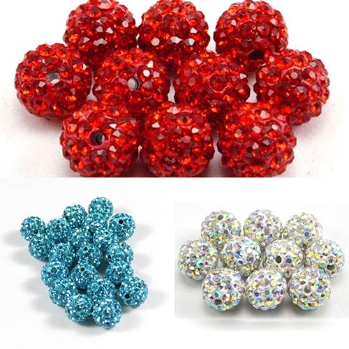 Beads 8mm Blue Zircon Top Quality Czech Crystal Rhinestones Pave Clay Round Disco Ball Spacer Beads For Jewelry 100pcs Pack Wide Varieties