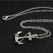 Men's Anchor Pendant Necklace