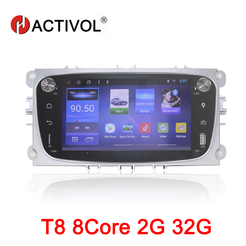 HACTIVOL 8Core 2G RAM 32G Car radio for Ford Focus 2 S Max 2007 2008 2009