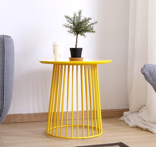 Modern minimalism europe storage side table metal wire storage round modern minimalism europe storage side table metal wire storage round tea table multifunction coffee table loft keyboard keysfo