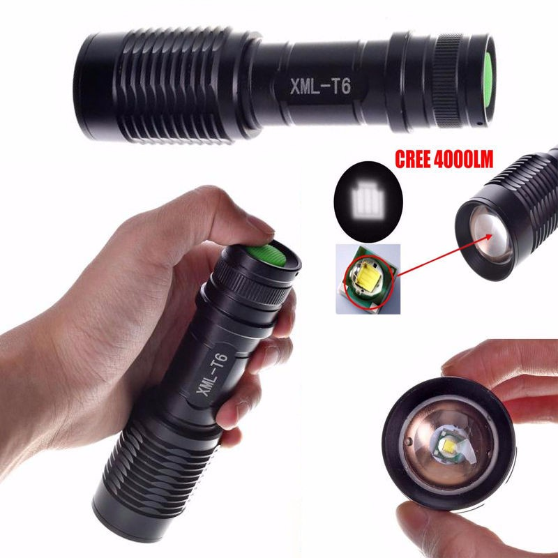 Led Flashlights Orderly 4000lm Zoomable Xml T6 Led 5 Modes Police Flashlight Lamp Torch Led Torch Flashlight Latarka Handheld Linterna Lanterna Powerful With The Most Up-To-Date Equipment And Techniques Lights & Lighting