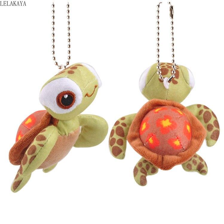 Plush Keychains Tortoise Soft Stuffed Animals Creative Bag Xmas Pendants Kids Fashion Cartoon Cuckold Sea Marine Life Doll 10cm
