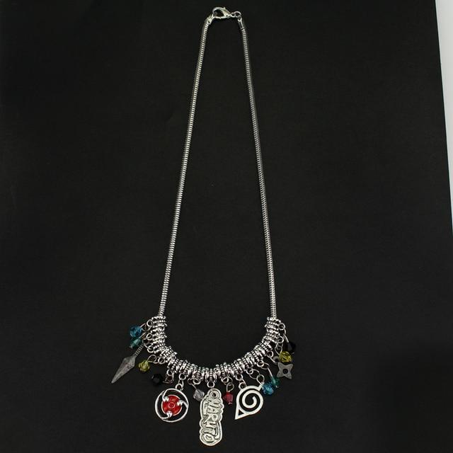 Sharingan Dart Weapon Konoha Logo Pendant Necklace