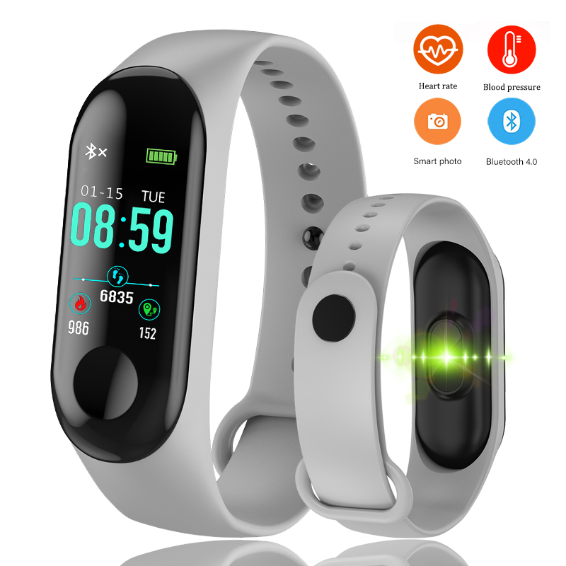 Bangwei Men Sport Watch Blood Pressure Heart Rate Monitor Smartwatch Men Led Color Touch Screen Fitness Wristband Digital Clock Digital Watches Watches