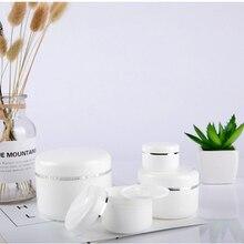 цена на Refillable Bottles Travel Face Cream Lotion Cosmetic Container Plastic Empty Makeup Jar Pot 20/30/50/100/150/250ml