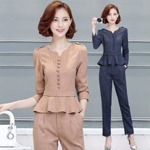 Women Spring and Autumn Fashion Formal Suits Elegant Office Lady Career Work Wear Casual 2 piece