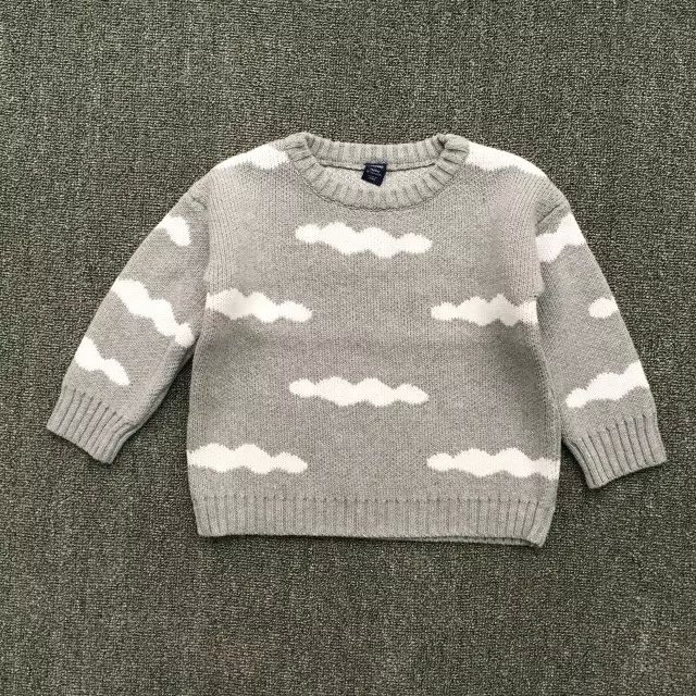 5442053f1 New 2017 spring and autumn new children knitted sweater baby boys ...
