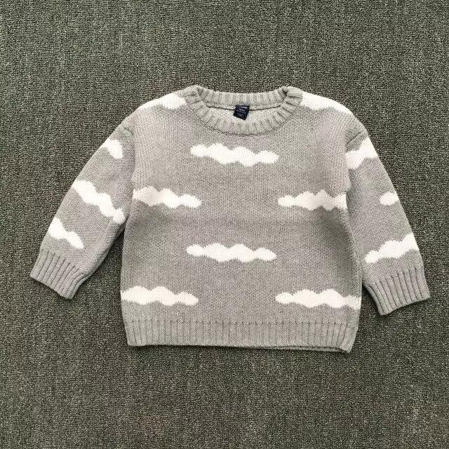 Nieuwe 2016 en najaar nieuwe kinderen gebreide trui baby jongens meisjes leuke cartoon kids wolken trui dikke warme trui