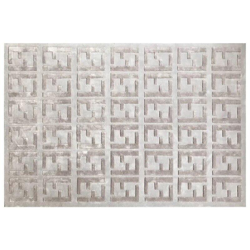 Haute et basse cheveux importé laine plus soie salon tapis chambre tapis peut être personnalisé
