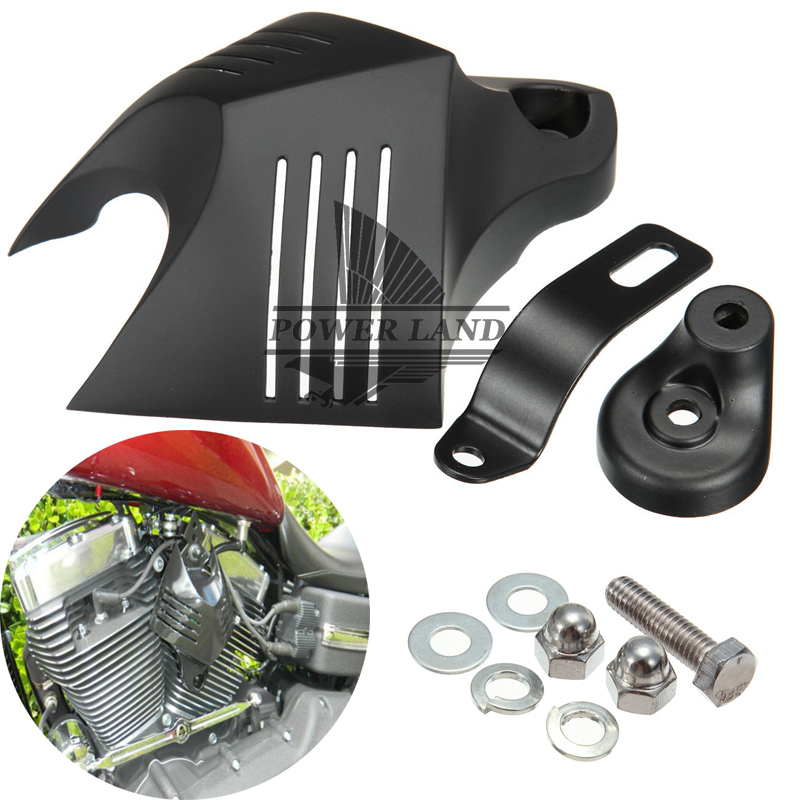 New Motorcycle Kuryakin V-Shield Horn Cover Black Twin Horn Cover V-Shield Cowbell For 92-13 Harley Road King Dyna Softail Glide кахона sonor 90633200 tcb thrasher cowbell box